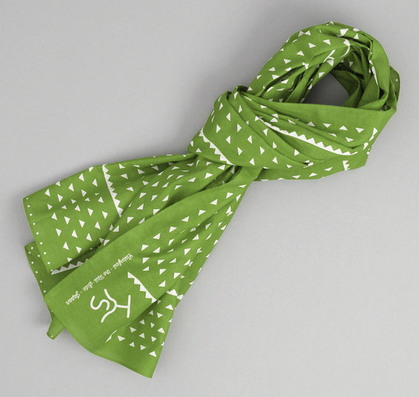 The Hill-Side Rancher Logo Souvenir Bandana Scarf, Green