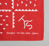 The Hill-Side - Red Souvenir Bandana Rancher Logo - SB1-04