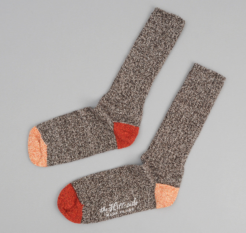 The Hill-Side - Salt & Pepper / Red / Orange Socks - SX2-01