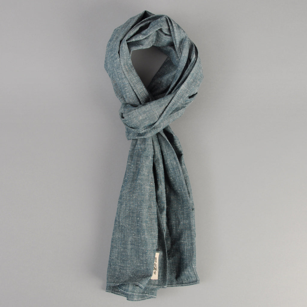 The Hill-Side - Scarf, Extra Neppy Indigo Chambray - SC1-324