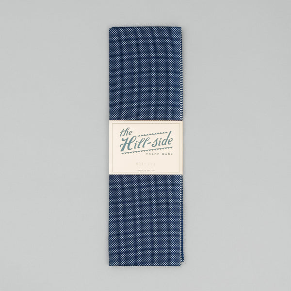 The Hill-Side - Scarf, Indigo Wabash Polka Dot - SC1-271