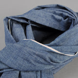 The Hill-Side - Scarf, Selvedge Chambray, Indigo - SC1-001