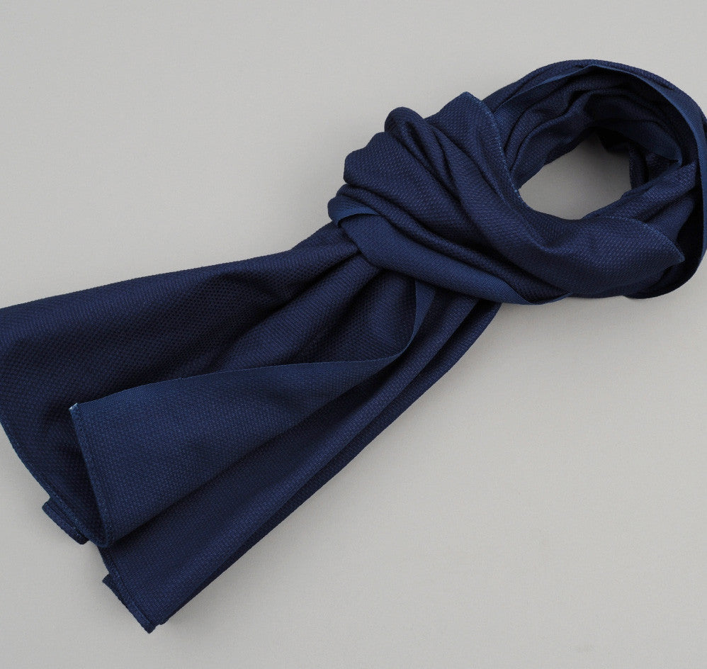 The Hill-Side Lightweight Indigo Sashiko Scarf