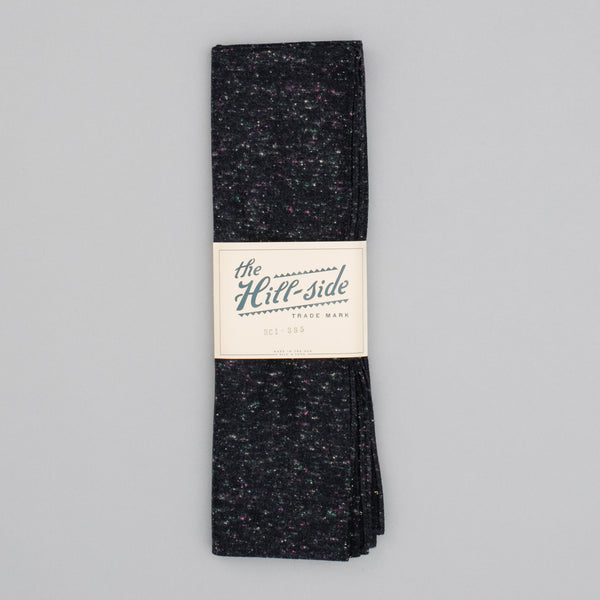 "The Hill-Side - Scarf, Wool Blend ""Galaxy"" Tweed, Navy - SC1-385"
