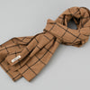 The Hill-Side - Scarf, Wool Blend Windowpane Check, Brown & Black - SC1-382