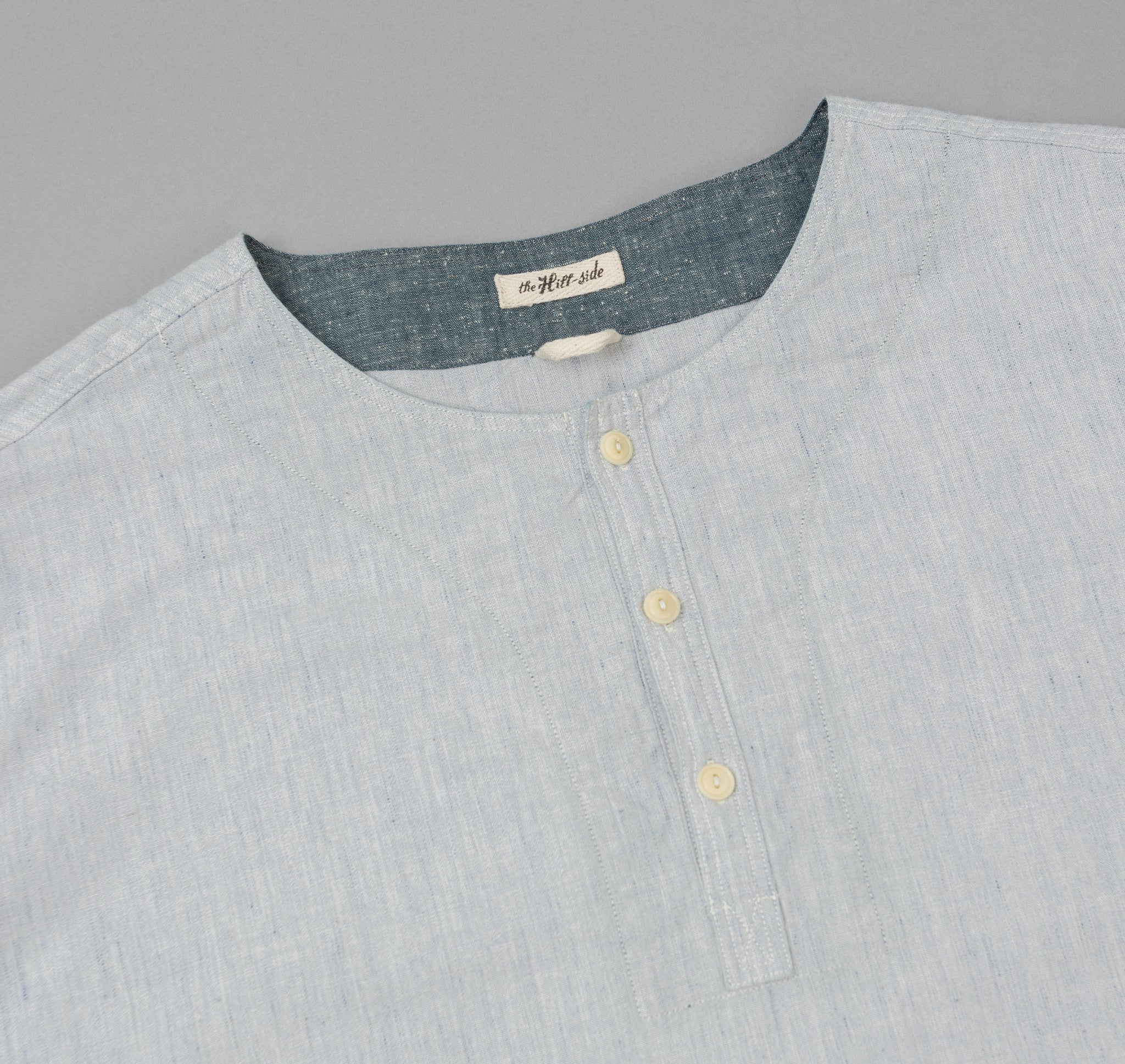 The Hill-Side Selvedge Chambray El Segundo Shirt, Variegated Pale Indigo Warp