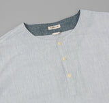 The Hill-Side - Selvedge Chambray El Segundo Shirt, Variegated Pale Indigo Warp - SH3-322