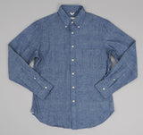 The Hill-Side - Selvedge Chambray Long Sleeve Standard Shirt, Indigo - SH1-001
