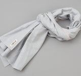 The Hill-Side - Selvedge Chambray Scarf, Variegated Pale Indigo Warp - SC1-322