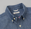 The Hill-Side - Selvedge Chambray Short Sleeve Button-Down Shirt, Indigo - SH2-001