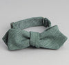 The Hill-Side - Selvedge Covert Chambray Bow Tie, Green - BT1-290