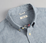 The Hill-Side - Selvedge Covert Chambray Button-Down Shirt, Light Indigo - SH1-288