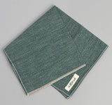 The Hill-Side - Selvedge Covert Chambray Pocket Square, Green - PS1-290