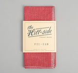 The Hill-Side - Selvedge Covert Chambray Pocket Square, Red - PS1-289