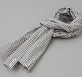 The Hill-Side - Selvedge Covert Gingham Chambray Scarf, Indigo / White - SC1-329