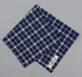 The Hill-Side - Selvedge Indigo Madras Classic Plaid Bandana, Indigo / Natural - BA1-338