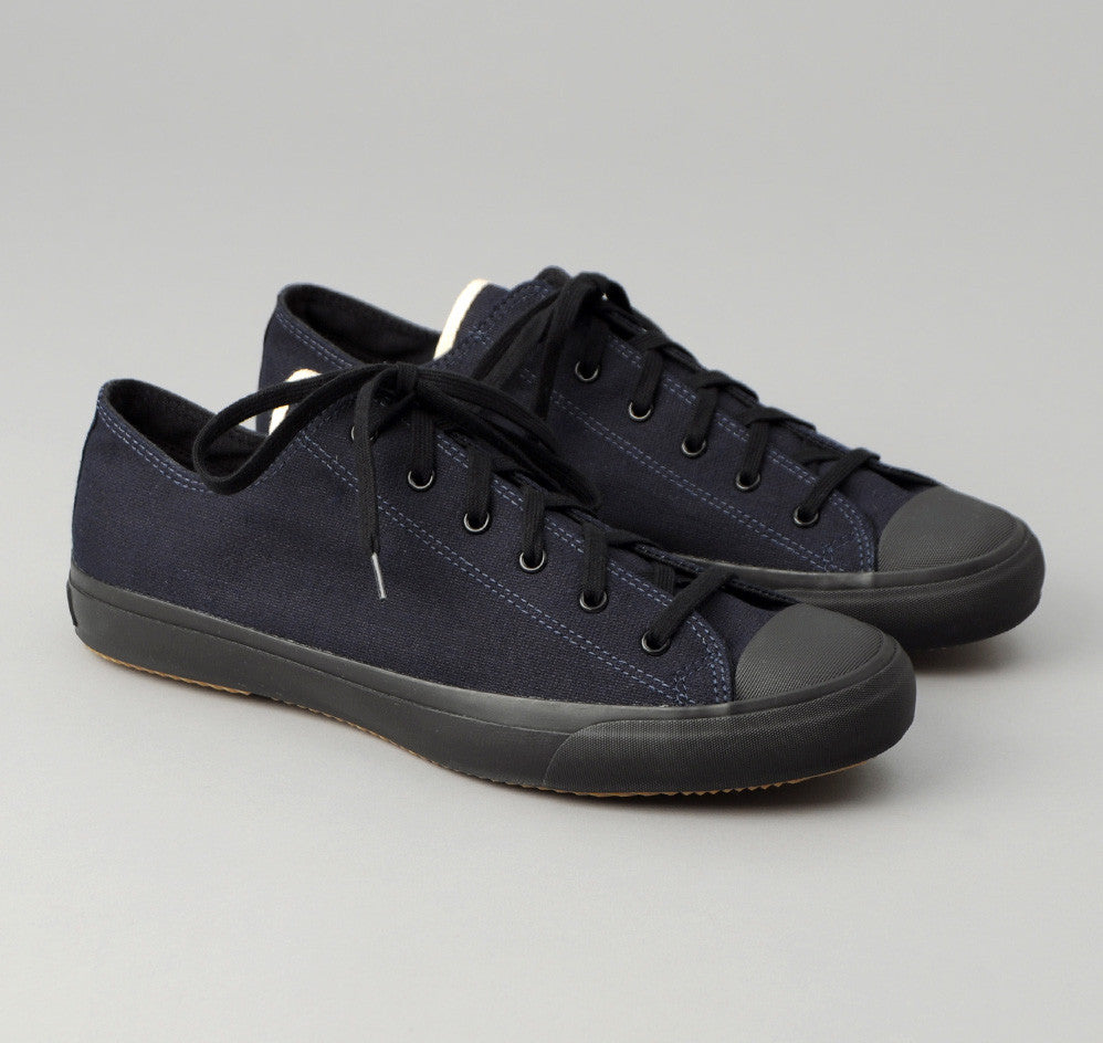 The Hill-Side - Selvedge Indigo Panama Cloth Low Top Sneakers - SN2-072
