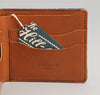 The Hill-Side - Selvedge Indigo Wabash Dot-Stripe Wallet - WA1-303