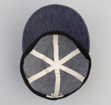 The Hill-Side - Selvedge Lightweight Weft-Slub Denim Ball Cap, Indigo - CA1-310