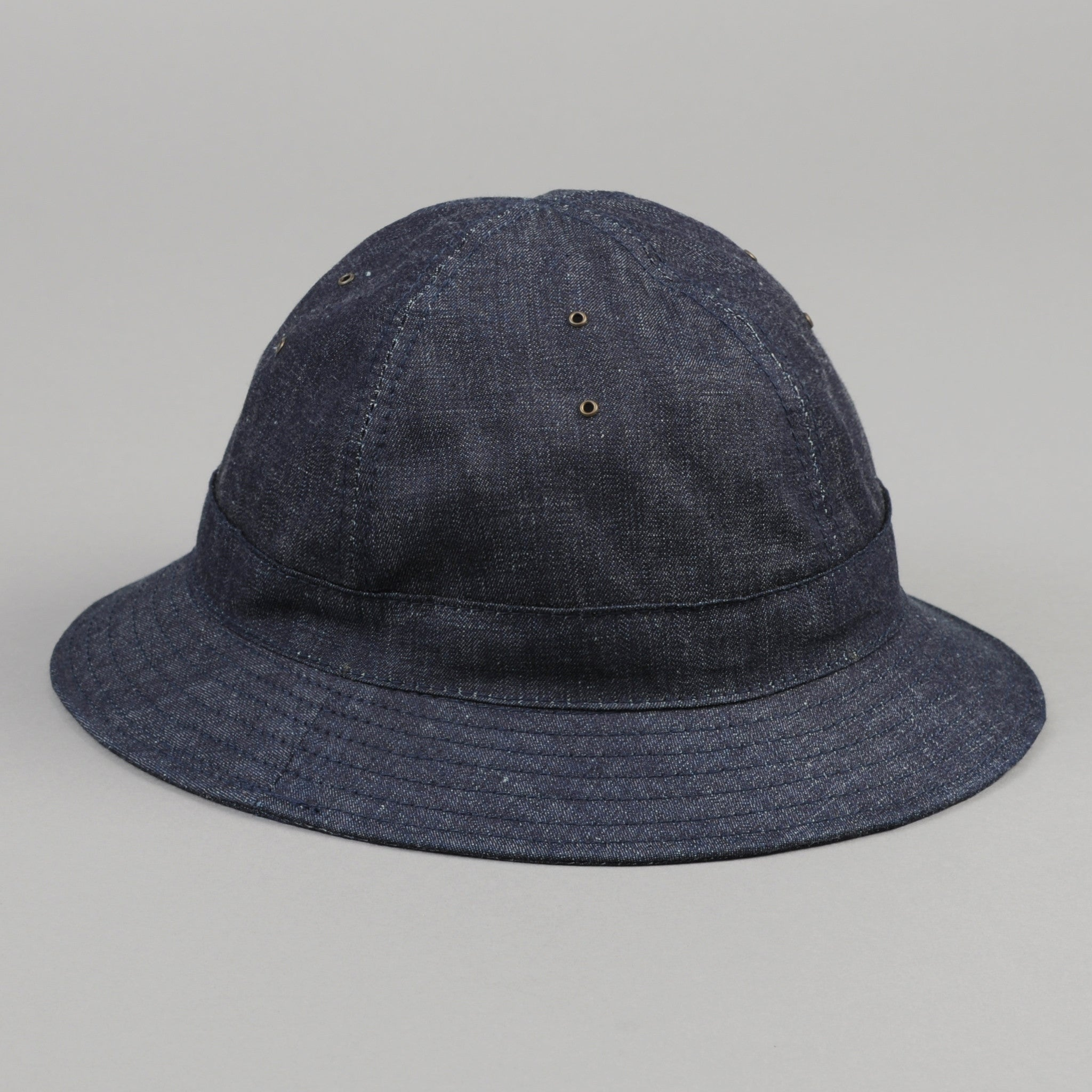 The Hill-Side - Selvedge Lightweight Weft-Slub Denim Daisy Mae Hat, Indigo - HA5-310