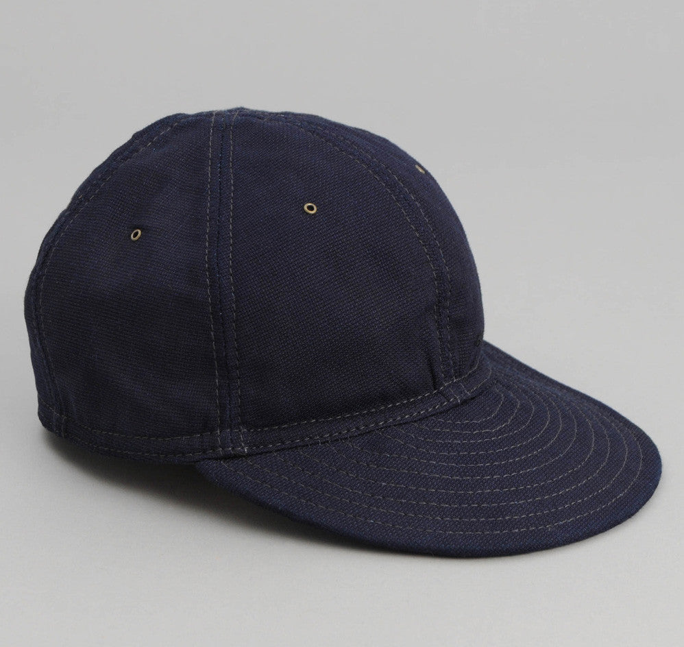 The Hill-Side - Selvedge Panama Cloth 6-Panel Ball Cap, Indigo - CA1-072