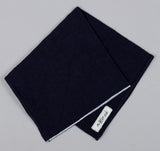 The Hill-Side - Selvedge Panama Cloth Bandana, Indigo - BA1-072