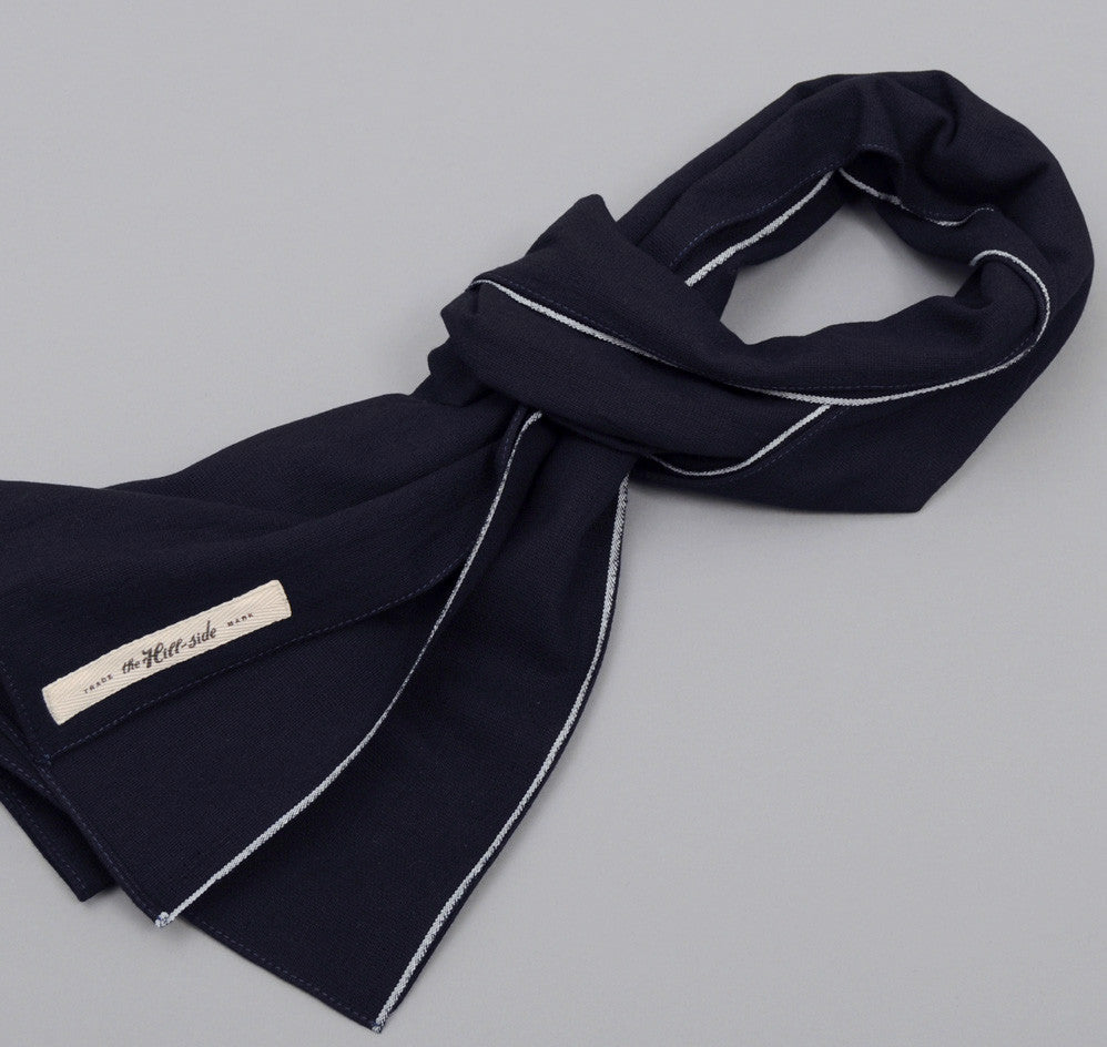 The Hill-Side Selvedge Panama Cloth Scarf, Indigo x Indigo