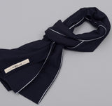The Hill-Side - Selvedge Panama Cloth Scarf, Indigo x Indigo - SC1-072