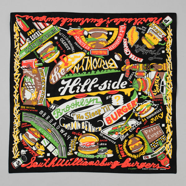The Hill-Side Brooklyn Burgers Souvenir Bandana, Black