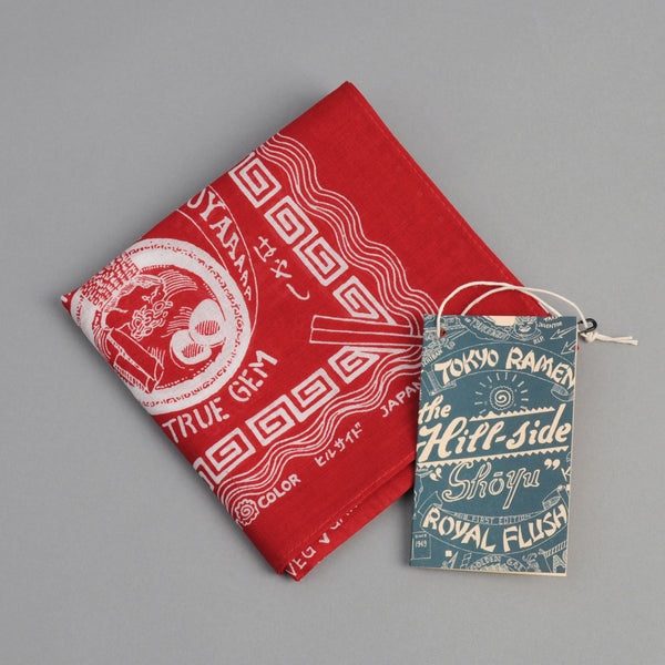 "The Hill-Side ""Tokyo Ramen Joints"" Souvenir Bandana, Red"