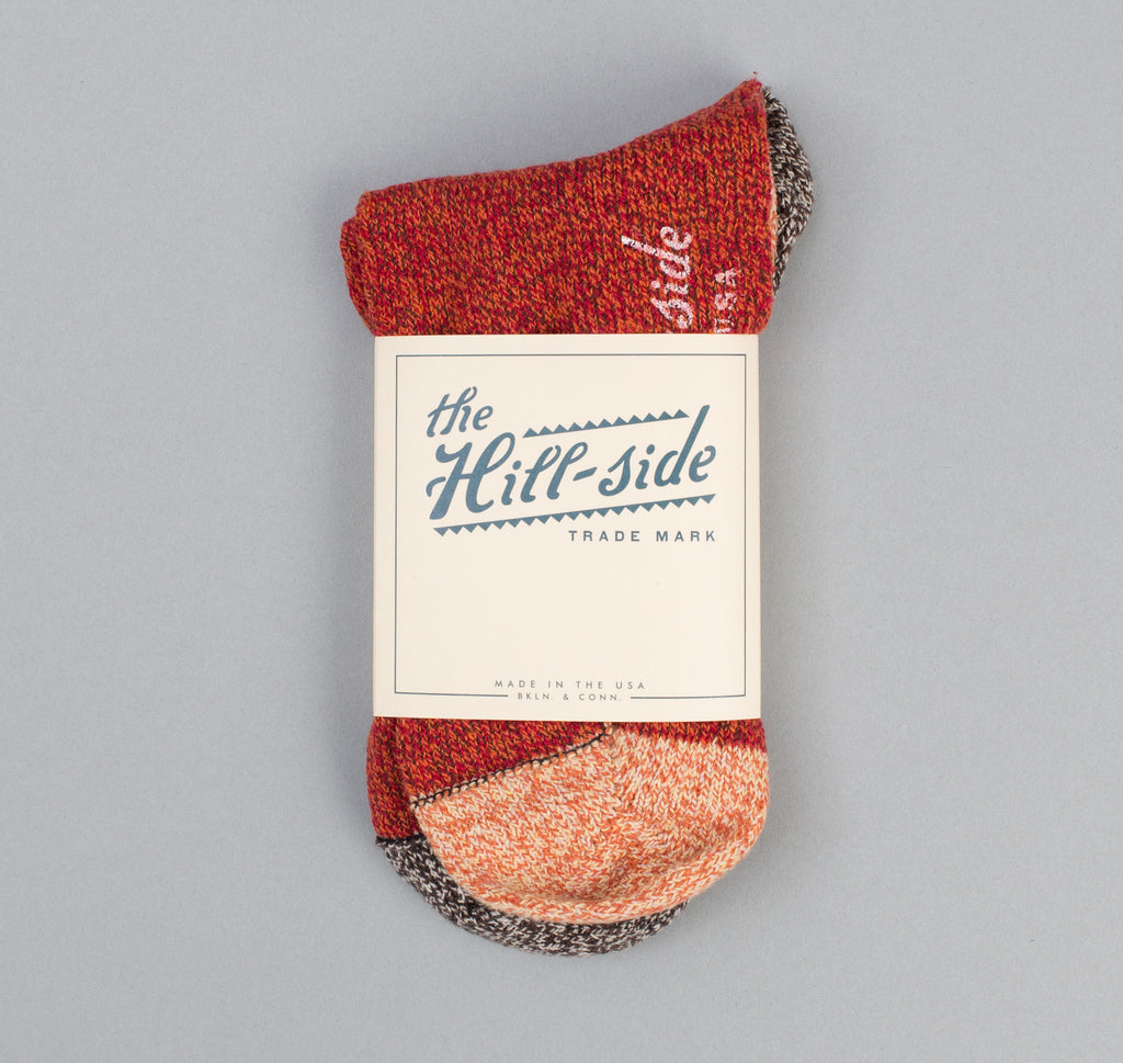 The Hill-Side - Sport Socks, Red / Salt & Pepper / Orange - SX4-03