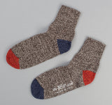 The Hill-Side Sport Socks, Salt & Pepper / Navy / Red
