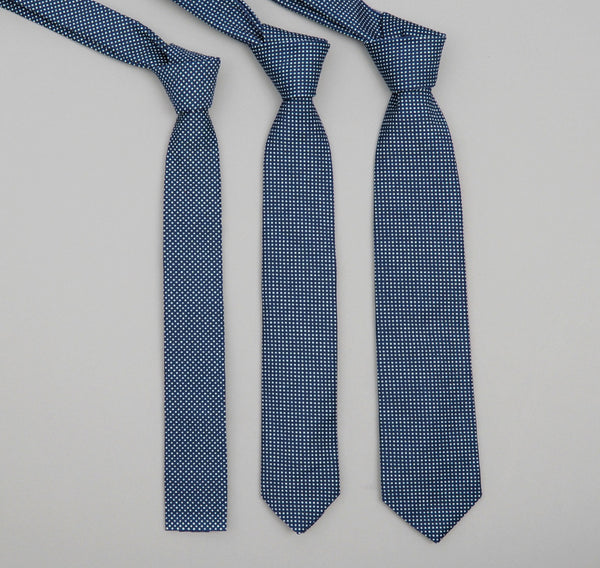 The Hill-Side - Square-End Tie, Indigo Wabash Polka Dot - ST1-271