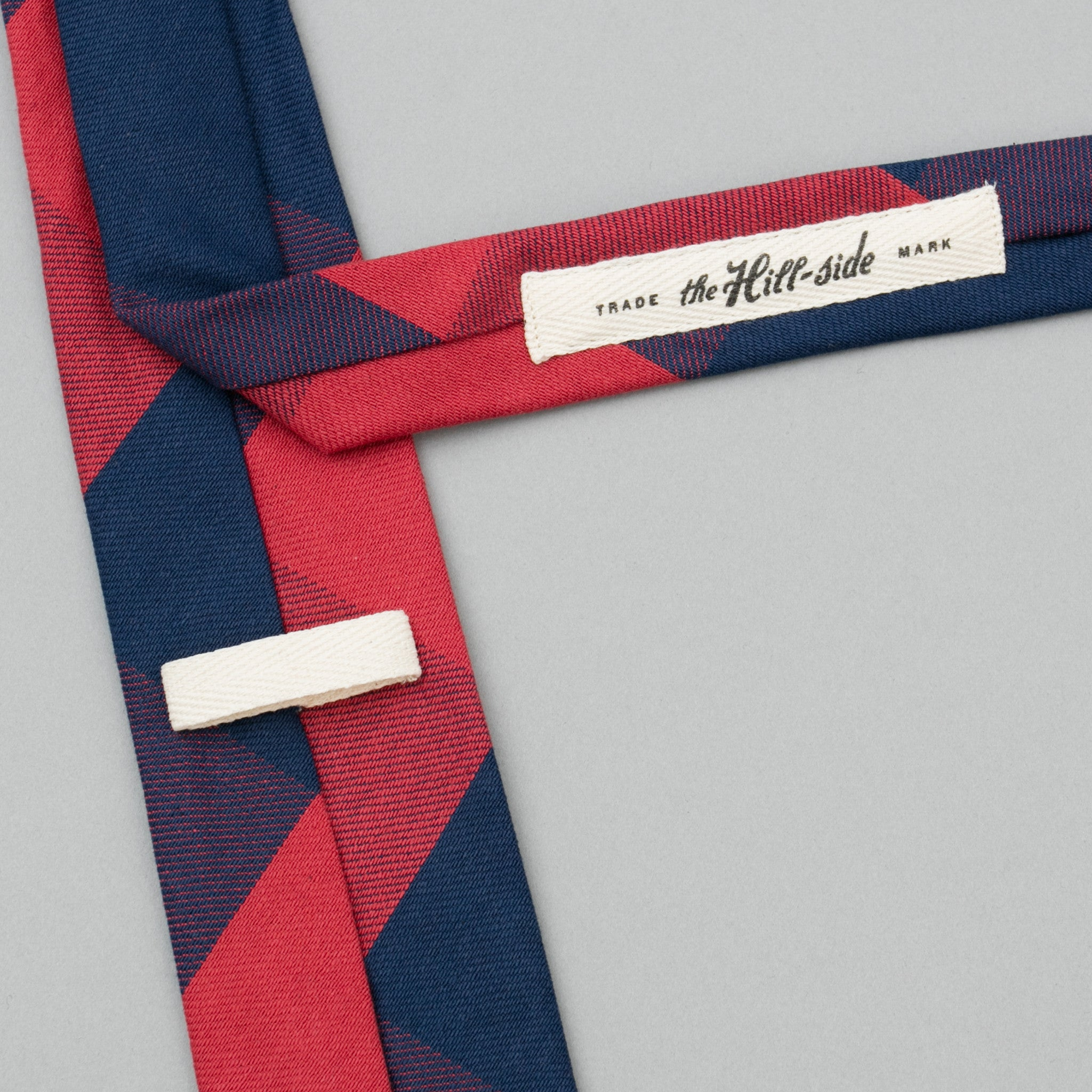 Indigo/Red Flannel Necktie, Buffalo Check