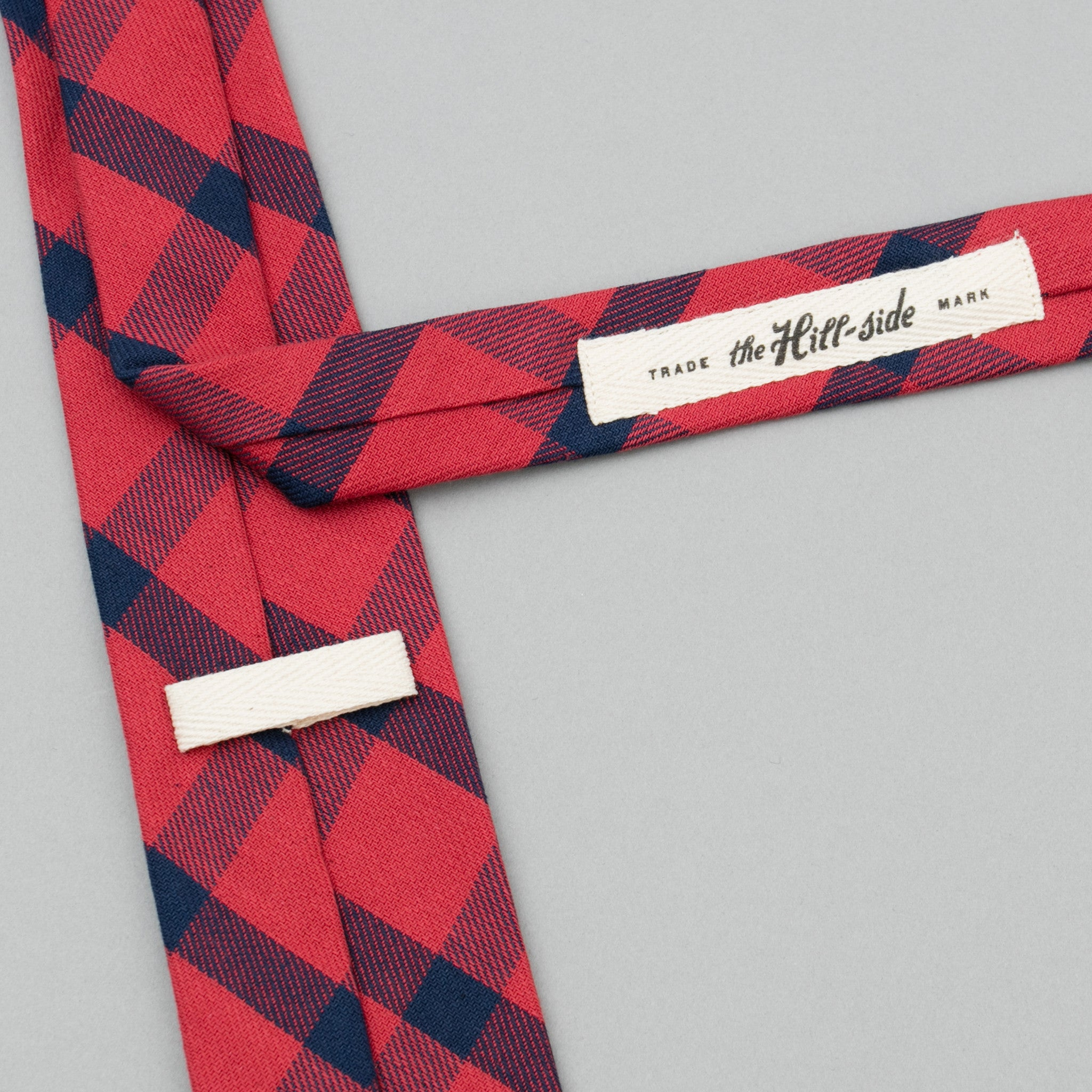 Indigo/Red Flannel Necktie, Windowpane