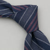 The Hill-Side - Standard Pointed Tie, TH-S Mills Navy Warp Antique Japanese Stripe - PT1-365