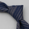 The Hill-Side TH-S Mills Navy Warp Tie, Waterfall Stripe