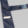 The Hill-Side - Standard Pointed Tie, TH-S Mills Navy Warp Waterfall Stripe, Navy & Biege - PT1-364