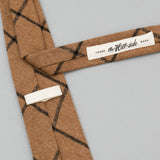 The Hill-Side - Standard Pointed Tie, Wool Blend Windowpane Check, Brown & Black - PT1-382