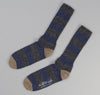The Hill-Side Striped Socks, Charcoal / Navy / Khaki