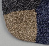 The Hill-Side - Striped Socks, Charcoal / Navy / Khaki - SX3-03