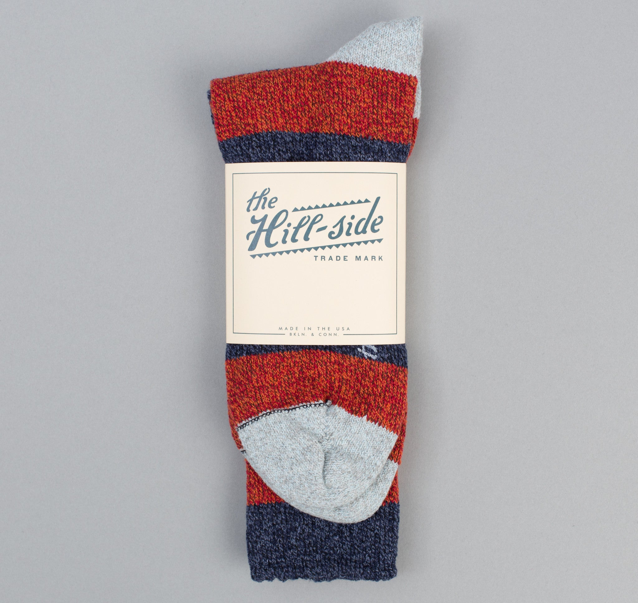 The Hill-Side - Striped Socks, Navy / Red / Light Blue - SX3-01