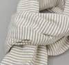 The Hill-Side - TH-S Mills Natural Warp Border Stripe Scarf, Navy / Natural Hickory - SC1-355