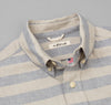 The Hill-Side - TH-S Mills Natural Warp Border Stripe Short Sleeve Standard Shirt, Navy / Khaki Awning - SH2-357