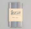The Hill-Side TH-S Mills Selvedge Waterfall Stripe Chambray Pocket Square, Light Indigo / Grey