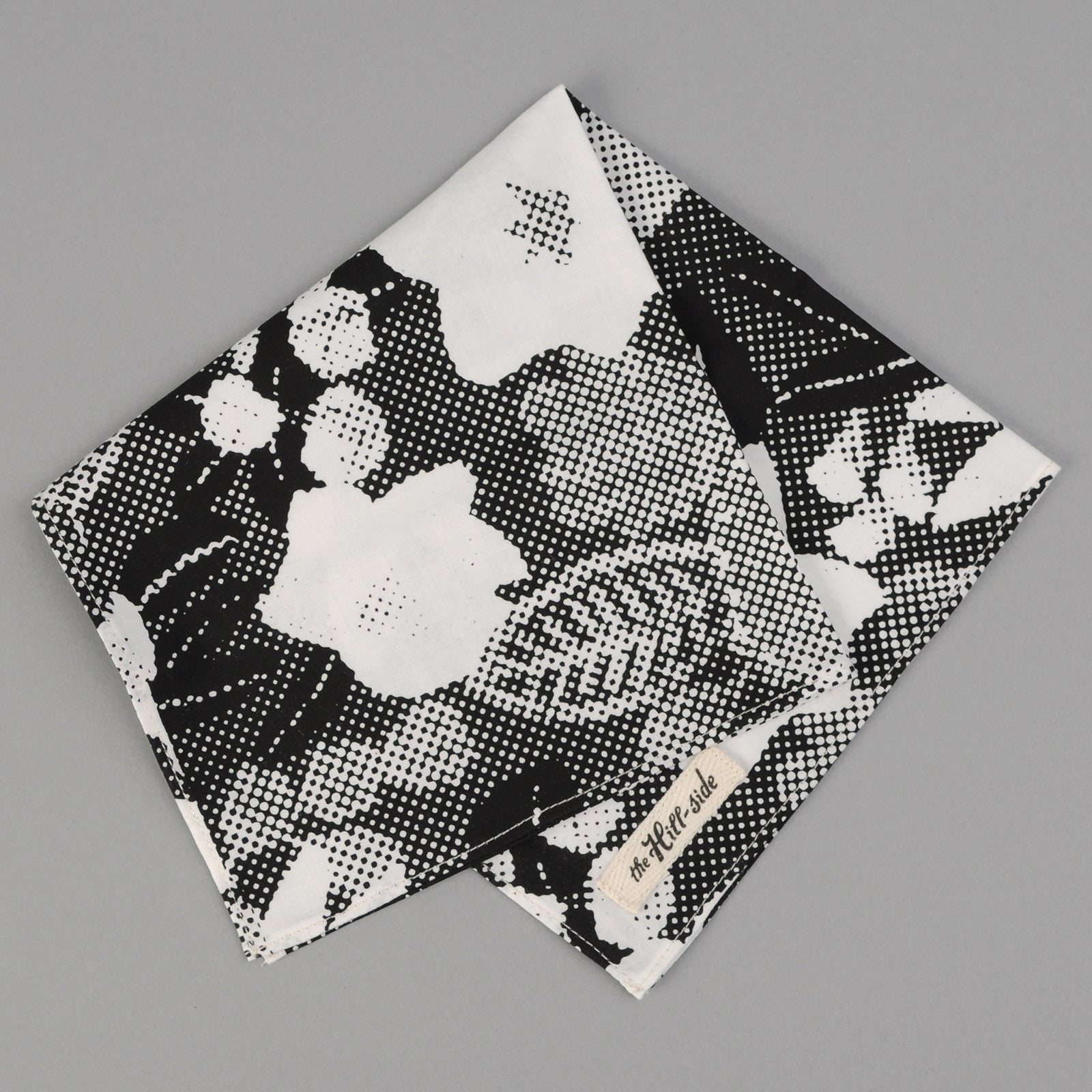 The Hill-Side - TOMS x The Hill-Side Pocket Square, Big Halftone Floral Print - PS1-447T