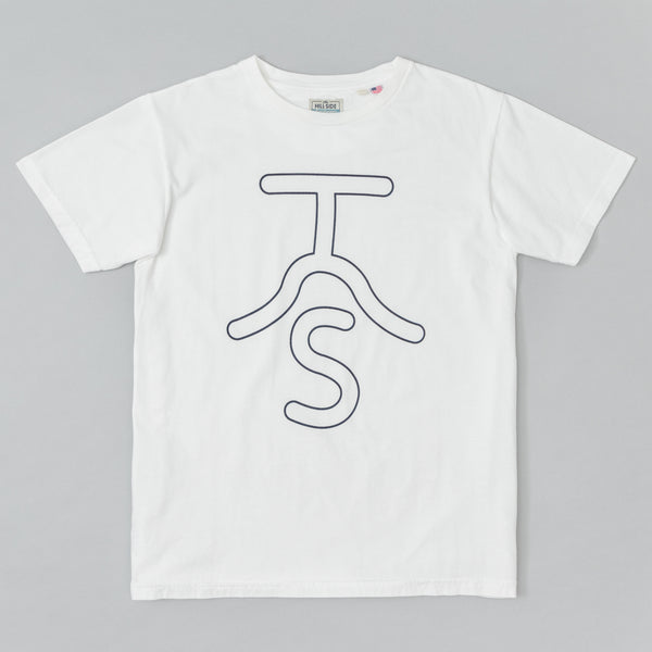 The Hill-Side - T-Shirt, Neon Rancher Logo, Natural White - TS1-0801