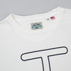 The Hill-Side T-Shirt, Neon Rancher Logo, Natural White
