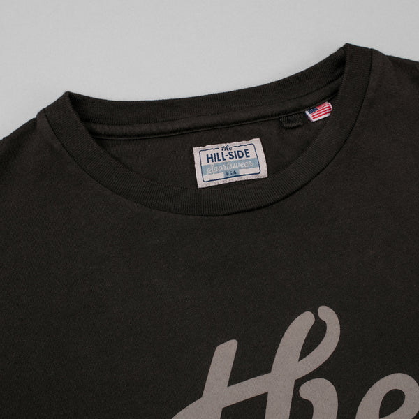 "The Hill-Side T-Shirt, ""The"", Faded Black w/ 3M Reflective Print"