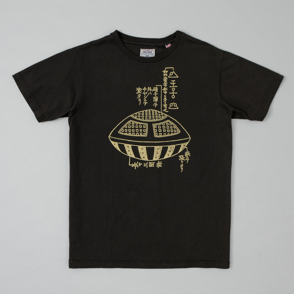 The Hill-Side - T-Shirt, Utsuro Bune UFO, Faded Black - TS1-0904